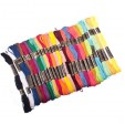 Набор ниток мулине, 25 цветов x 8м, цветные, полиэстер