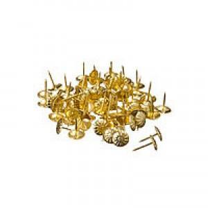 Гвозди мебельные усиленные, 100шт, золото