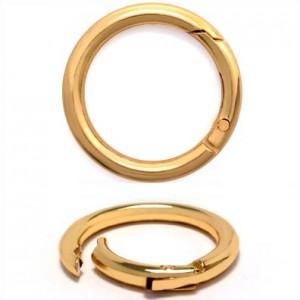 Карабин металл кольцо ТД.ГУ12861 41мм (31мм) золото