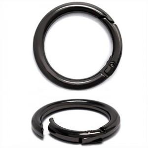 Карабин металл кольцо ТД.ГУ12861 41мм (31мм) черный никель