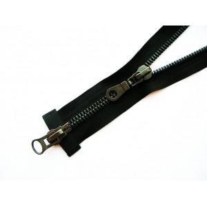 Молния металл Т8 75 см - 2 замка, оксид, никель