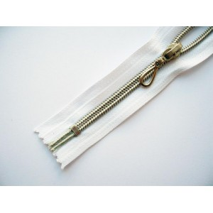 Молния витая Т7 12 см декоративная, серебро, неразъемная