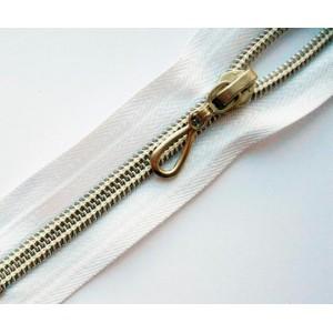 Молния витая Т7 50 см декоративная, серебро, разъемная
