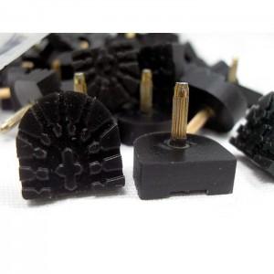 Набойки bissell 7DCS (штырь 3мм) 14х14х6мм черные, пара