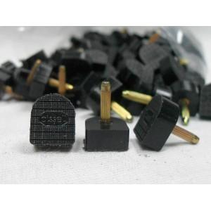 Набойки bissell 7E (штырь 2.4мм) 12х12х6мм черные, пара