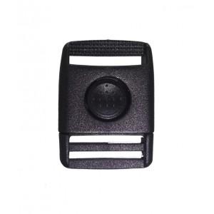 Фастекс 19 мм SB 10, с кнопкой, чёрный