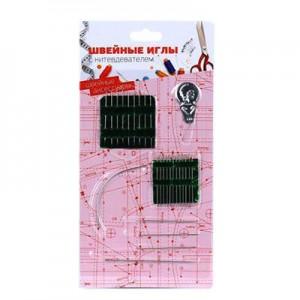 Набор швейных игл 26шт с нитевдевателем, сталь, DF-801