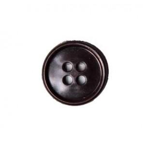Пуговицы 17мм 2/4 прокола, черные(1000шт)