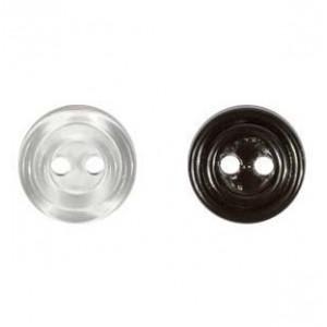 Пуговицы 11мм 2/4 прокола, прозрачные/черные/белые