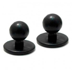 Пукля поварская 11мм черная (100шт)