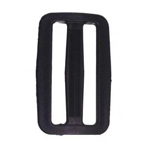 Рамка двухщелевая 30 мм арт. 8826 черн. пластик