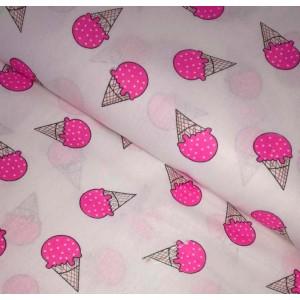 Бязь набивная детство Мороженое 150см. 125+/,5 г/м.кв.