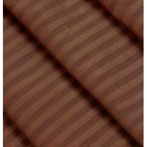 Страйп сатин шоколад 240 см. 125+/,5 г/м.кв 1х1